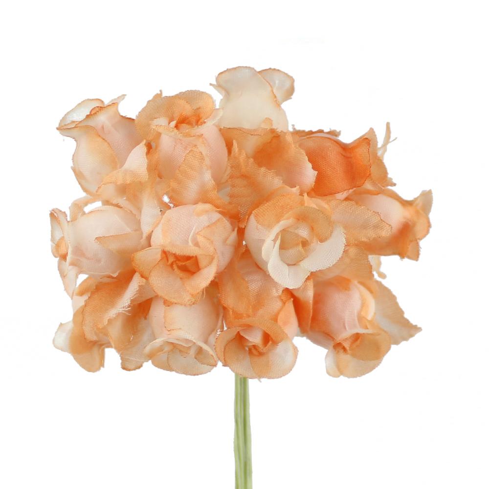 Ramillete capullos de rosas blanco y naranja