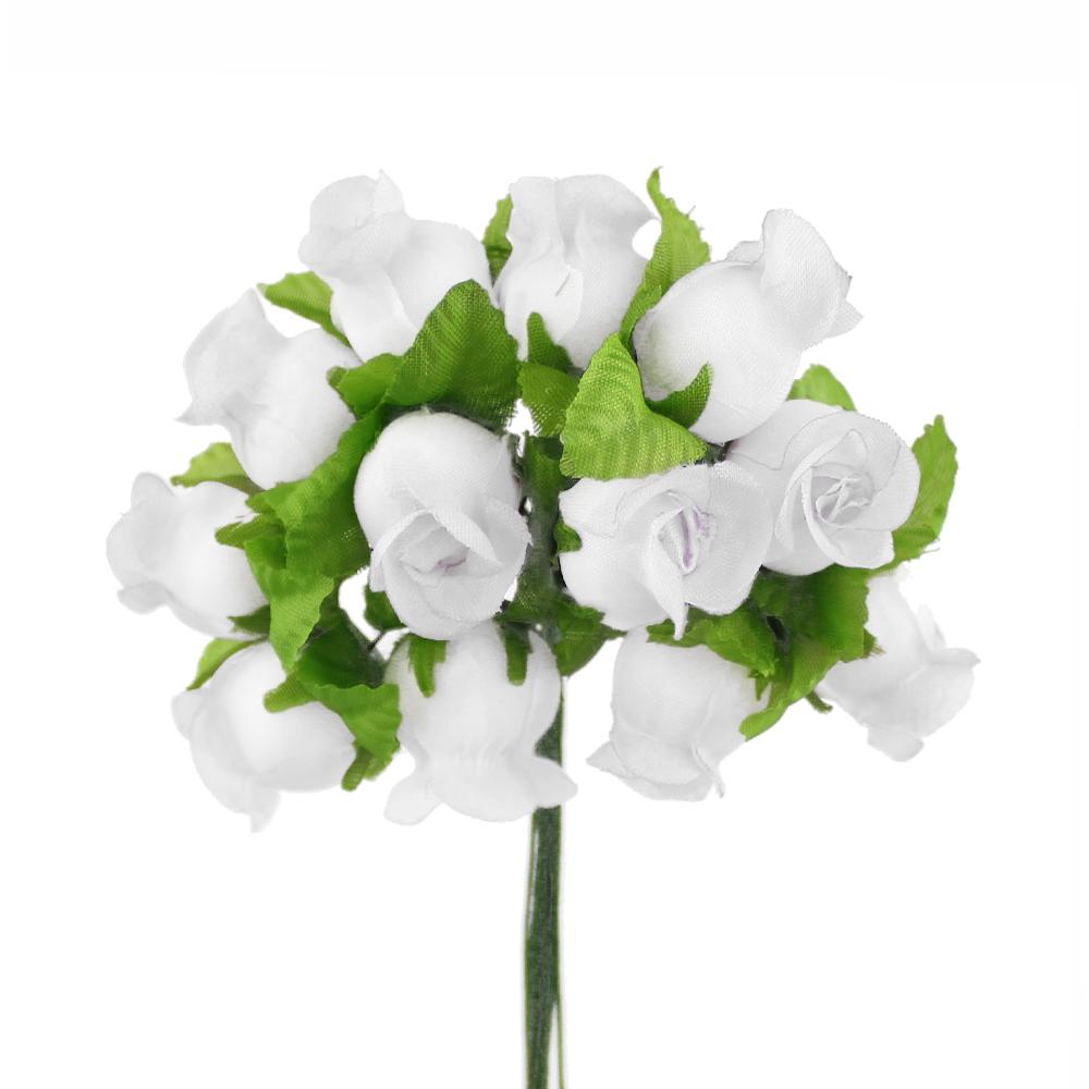 Ramillete capullos de rosas blanco