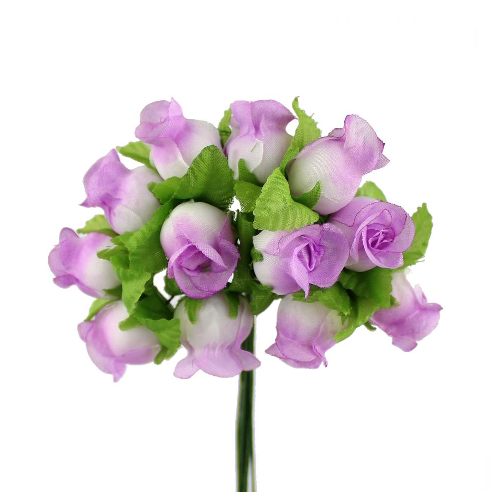 Ramillete capullos de rosas lila