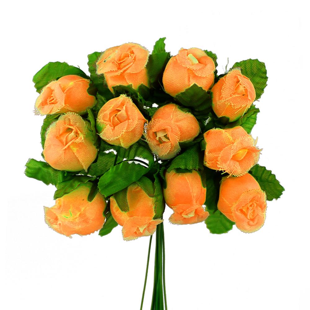 Ramillete capullos de rosas naranja