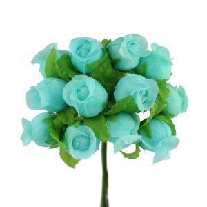 Ramillete capullos de rosas verde agua
