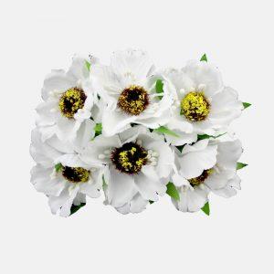 Ramillete con semillas 8×9 cm blanco