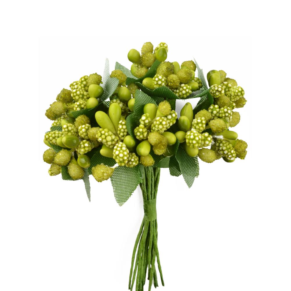 Ramillete de pistilos pistacho