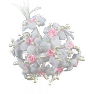 Ramillete pistilos mini rosa rosa palo