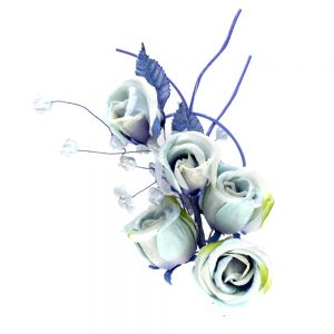 Ramo 5 Rosas 21×10 cm celeste