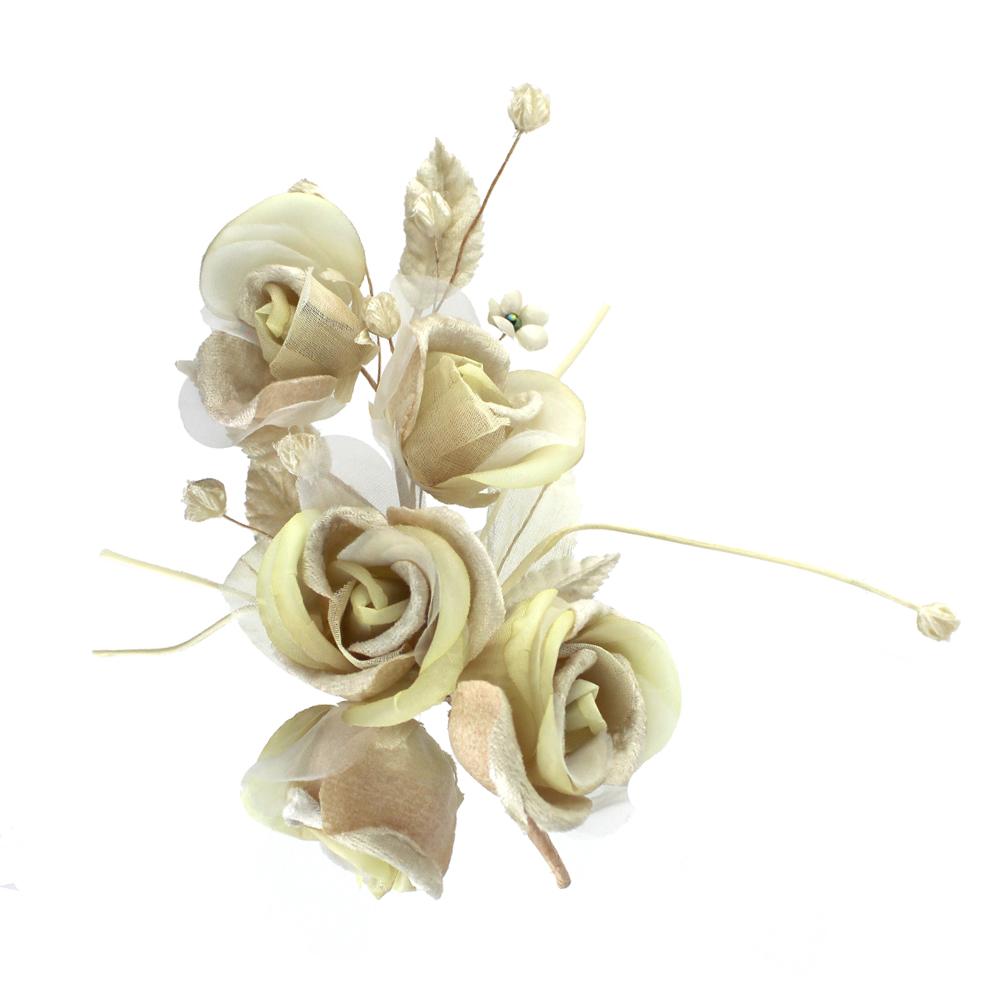 Ramo 5 Rosas 21×10 cm crudo