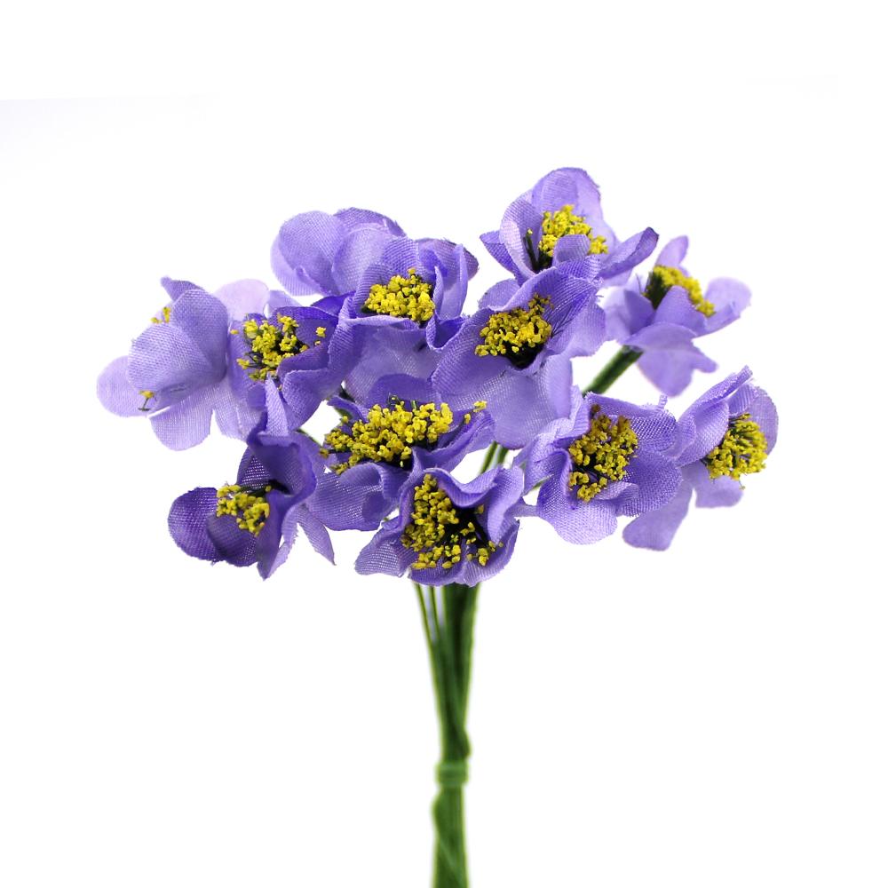 Ramo de florecillas con pistilos 10×5 cm lila