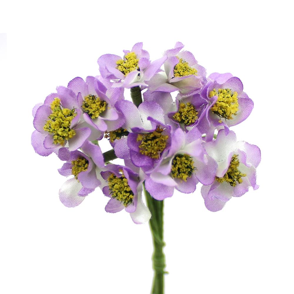 Ramo de florecillas con pistilos 10×5 cm malva