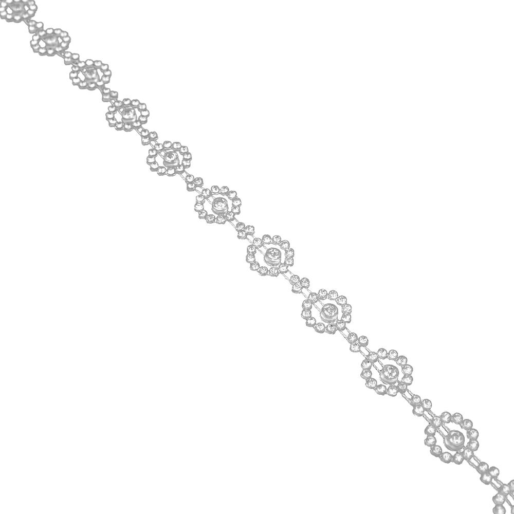 Tira Cristal Strass 1 5 cm blanco