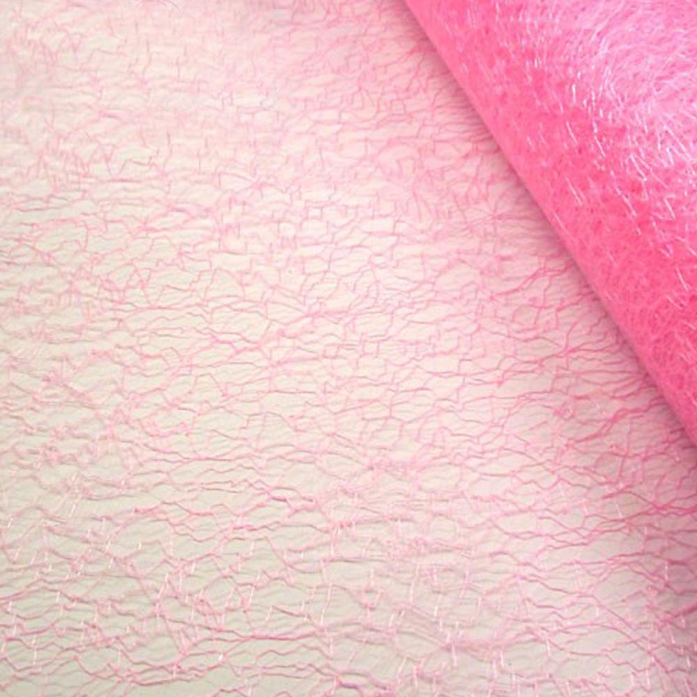 Tul abacá 48 CM rosa