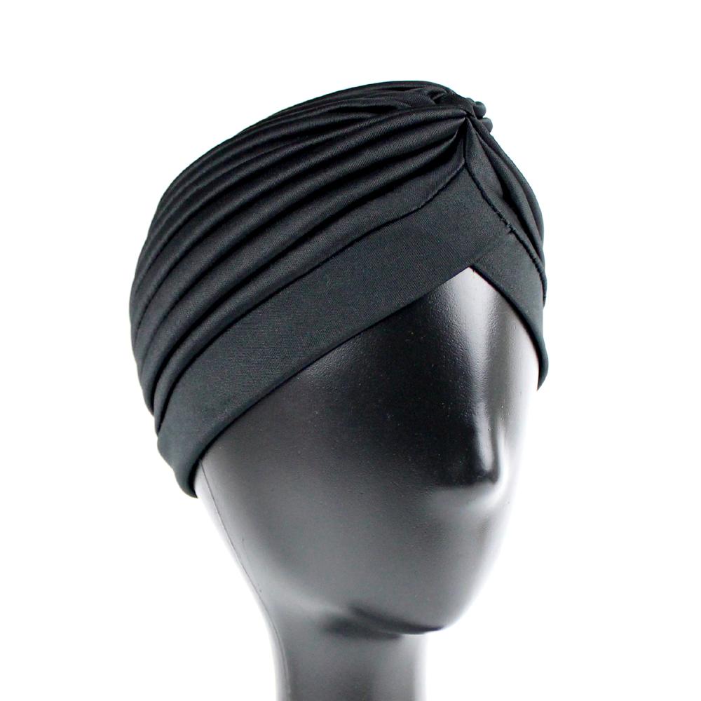 Turbante cerrado licra negro