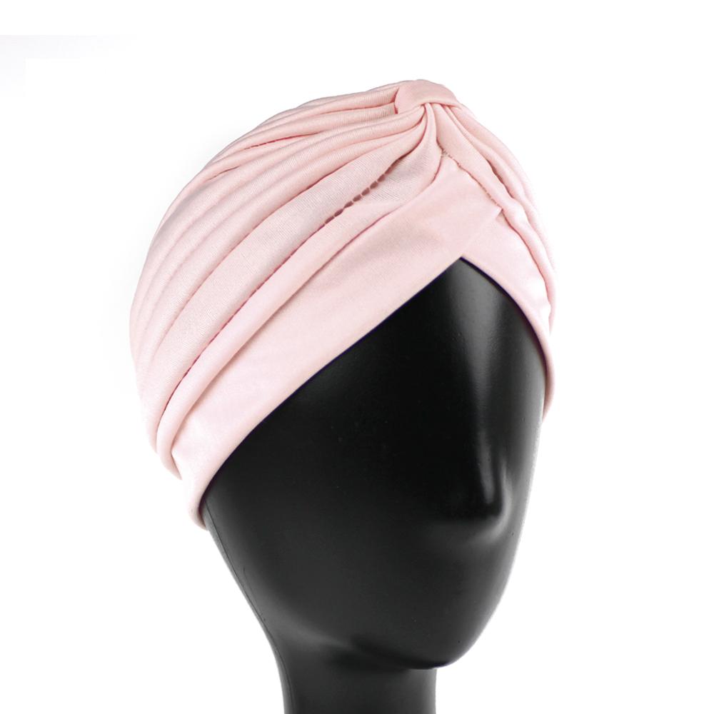 Turbante cerrado licra rosa nude