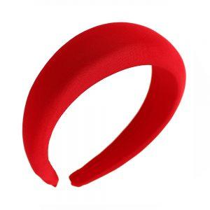 Turbante diadema forrado rojo
