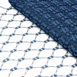 Velo hexagonal 23 cm azul marino