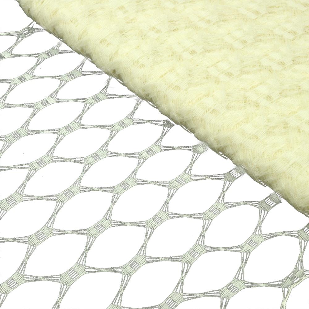 Velo hexagonal 23 cm crudo