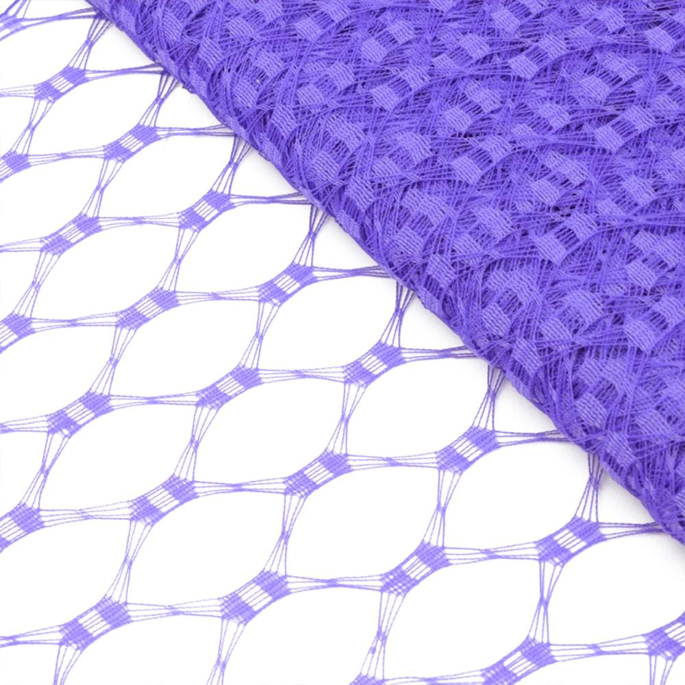 Velo hexagonal 23 cm morado