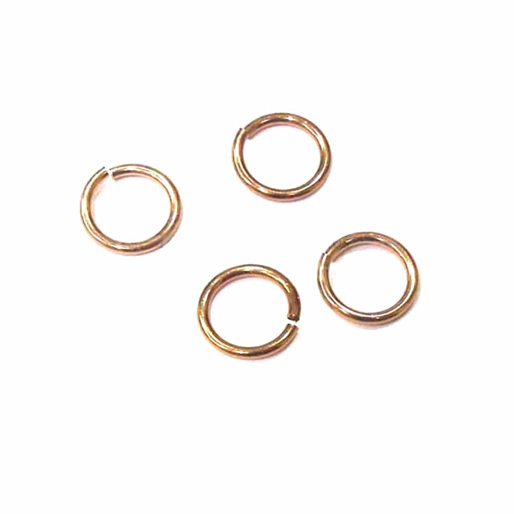 anilla 11mm diámetro 10 uds bronce