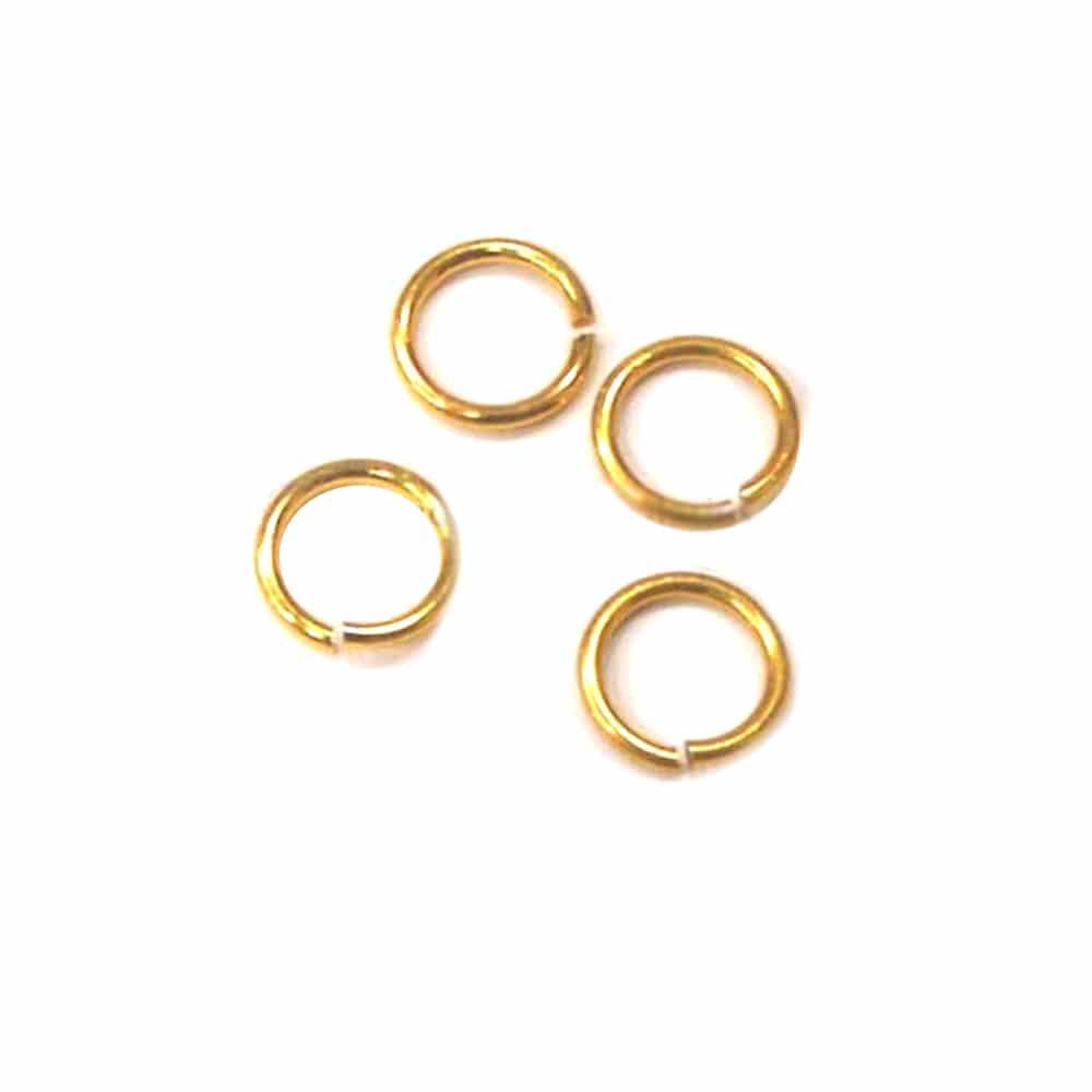 anilla 11mm diámetro 10 uds oro