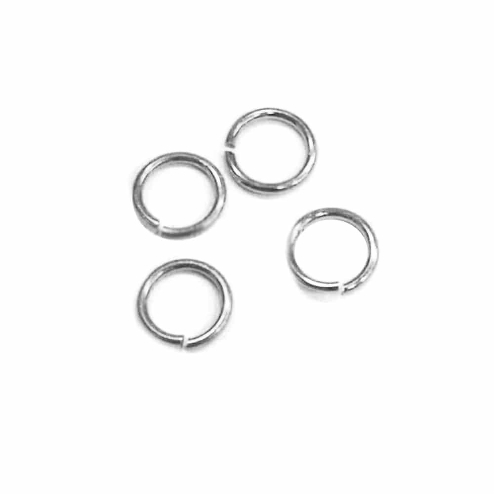 anilla 11mm diámetro 10 uds plata