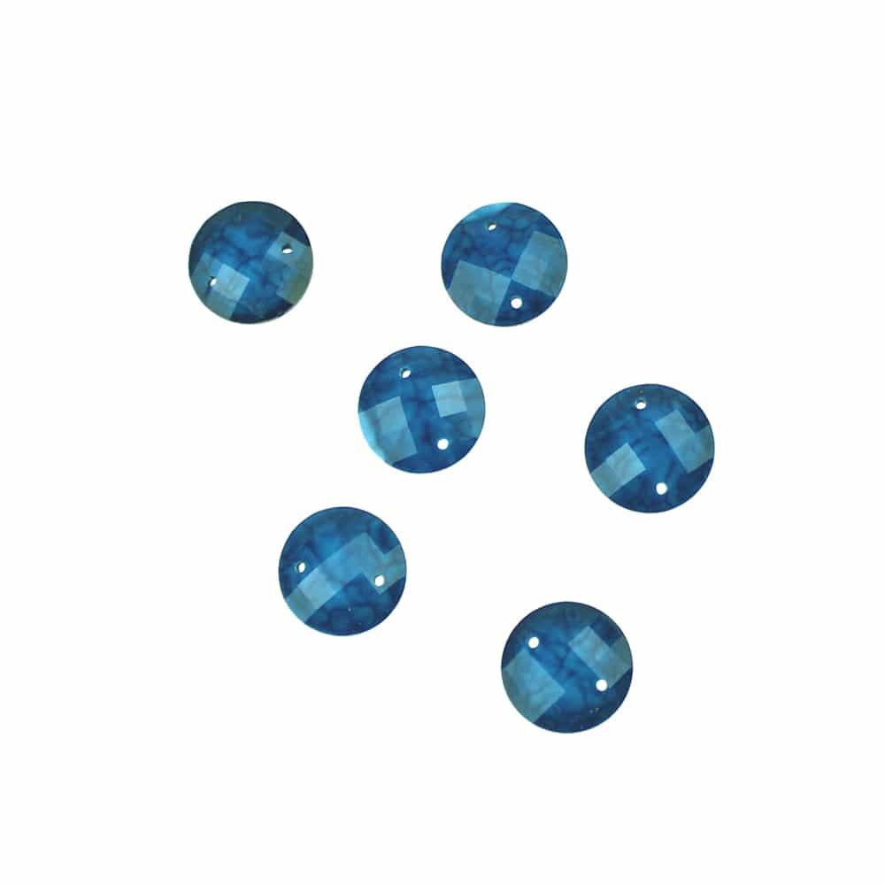 aplicacion circular marmoleada 12 mm azul azafata