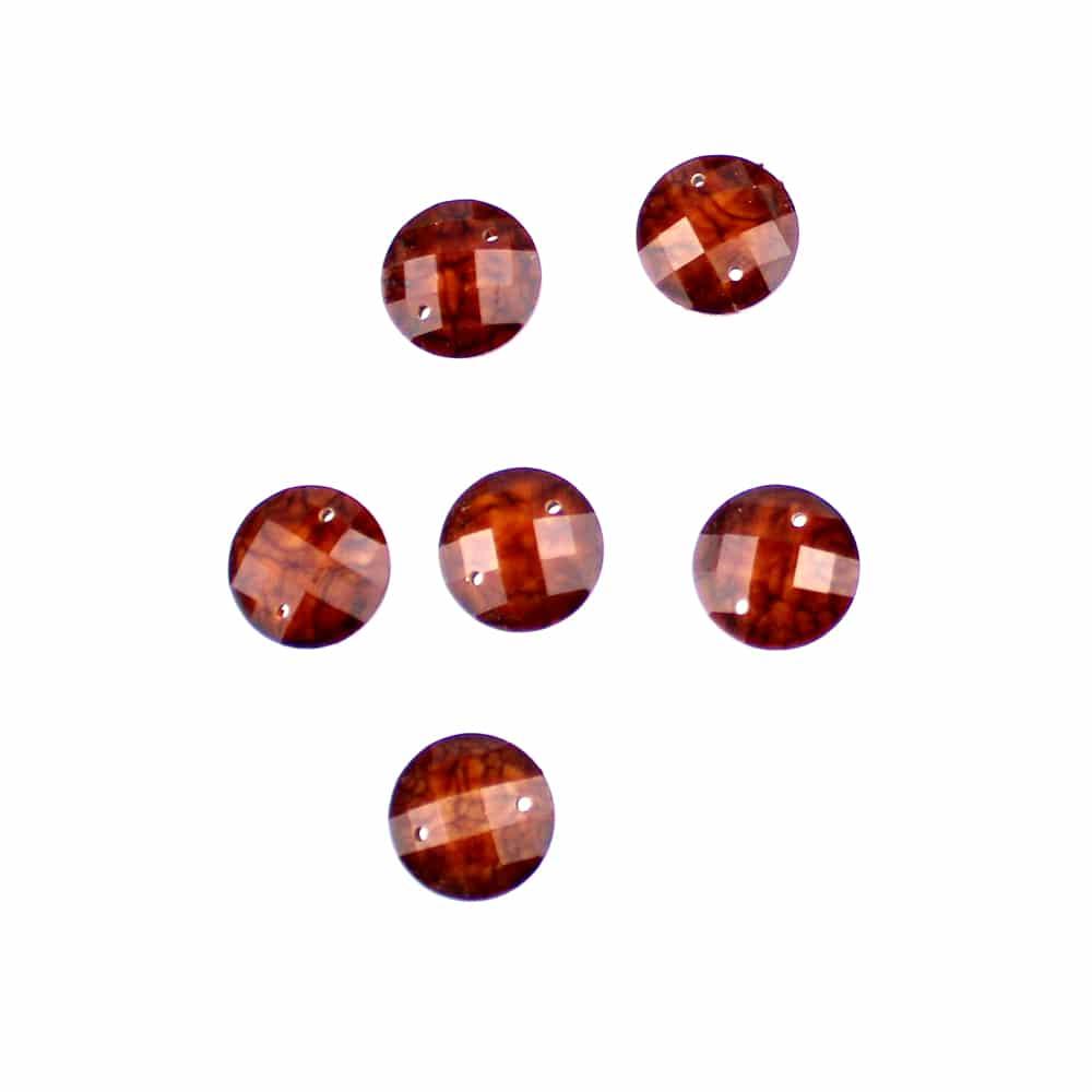 aplicacion circular marmoleada 12 mm chocolate