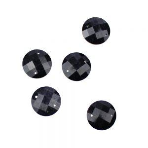 aplicacion circular marmoleada 12 mm negro