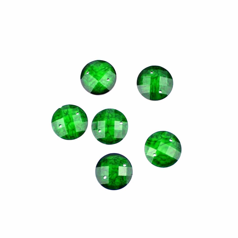 aplicacion circular marmoleada 12 mm verde jungla