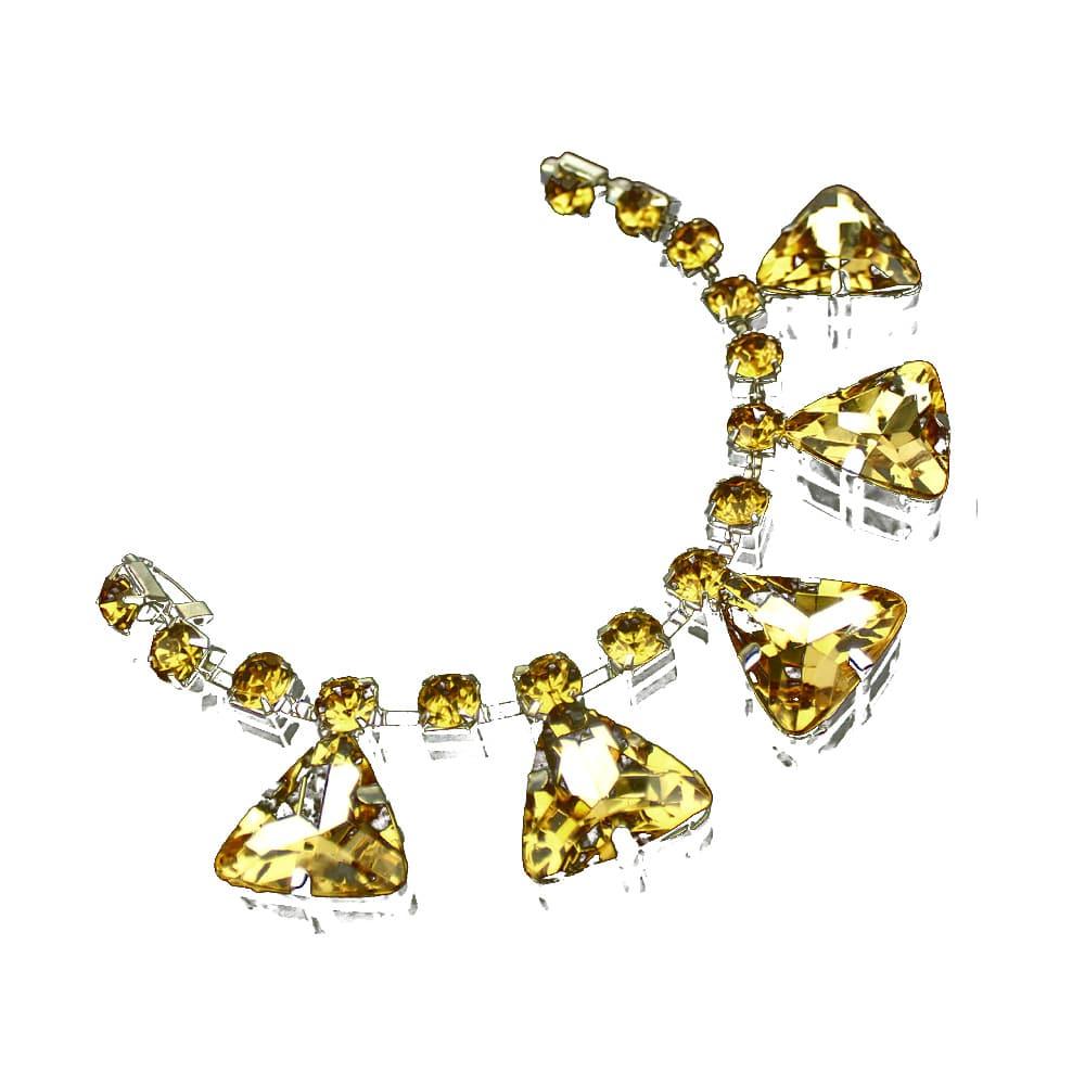 aplicacion de bisuteria triangulos 19×2.5 cm oro
