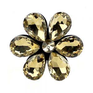 aplicacion flor 6 petalos oro