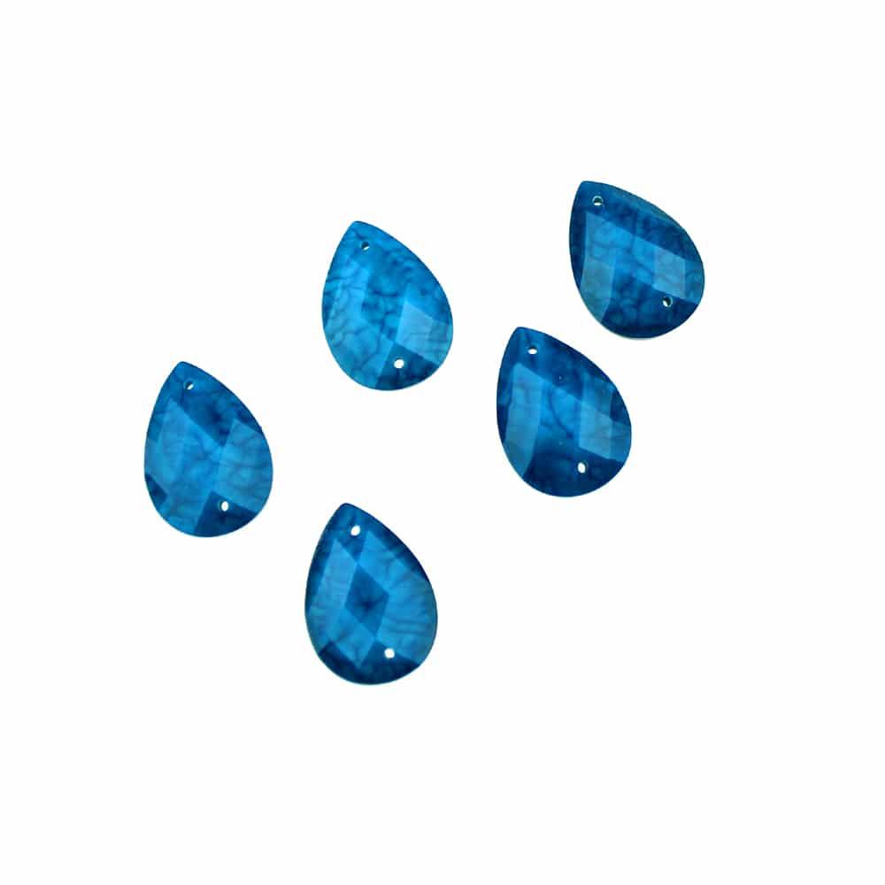aplicacion lagrima marmoleada 13×18 mm azul azafata