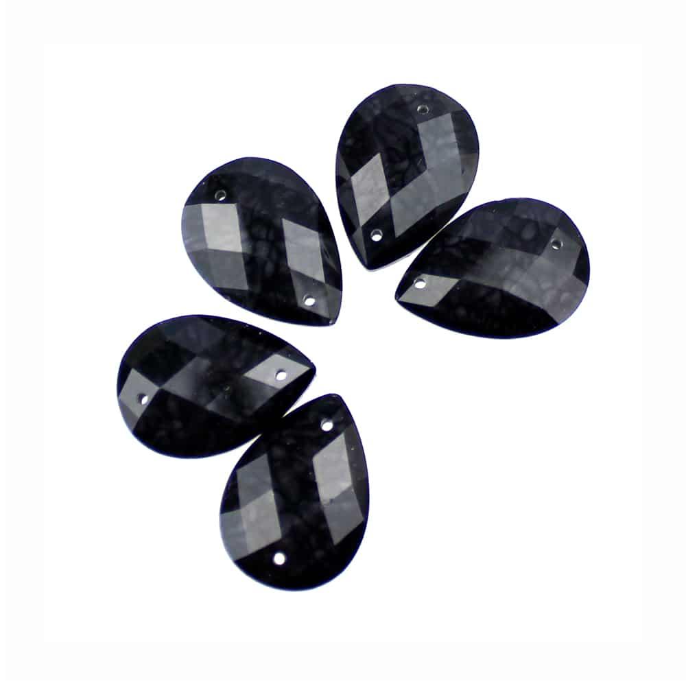 aplicacion lagrima marmoleada 13×18 mm negro
