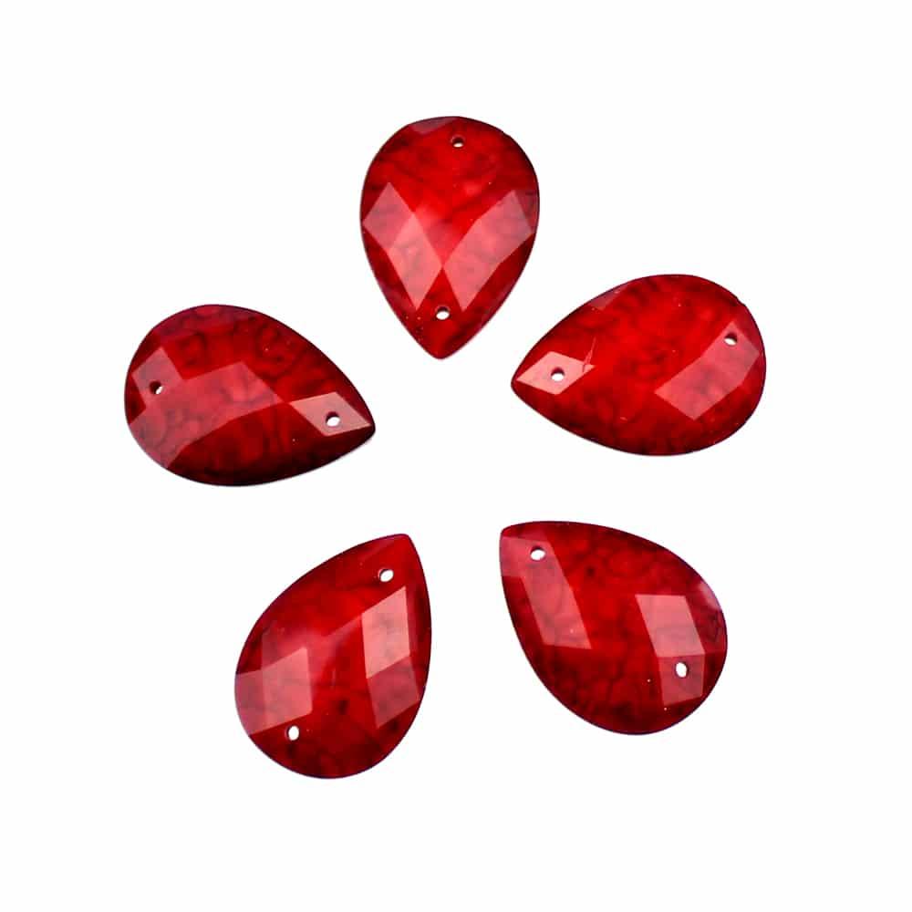 aplicacion lagrima marmoleada 13×18 mm rojo