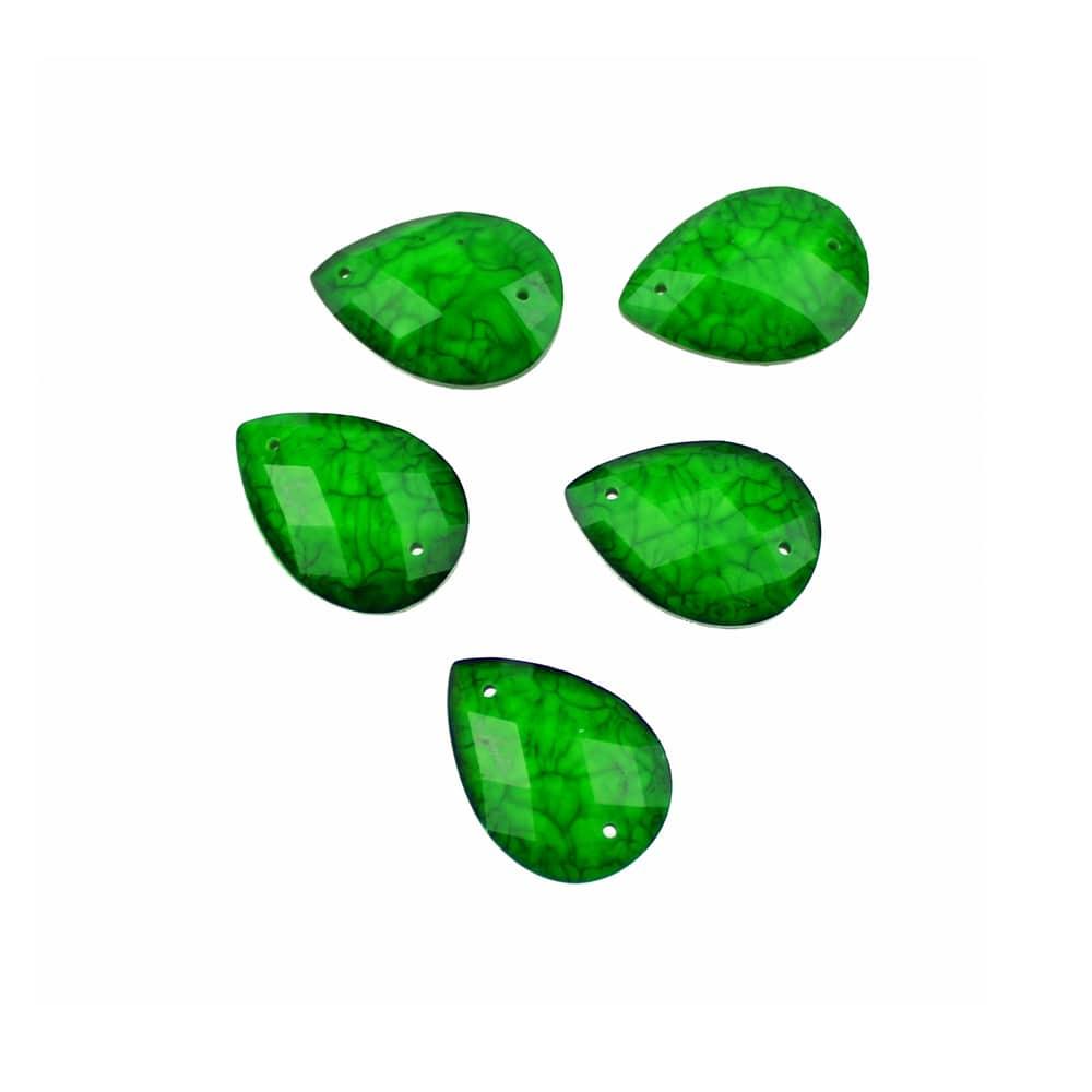 aplicacion lagrima marmoleada 13×18 mm verde jungla