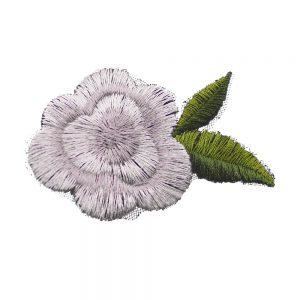 aplicacion mini flor gris plata