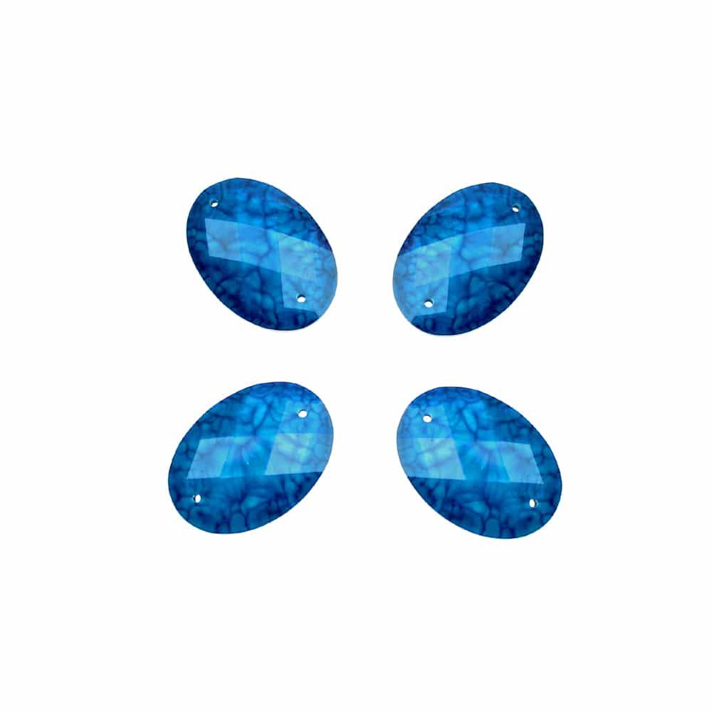 aplicacion oval marmoleada 25×18 mm azul azafata