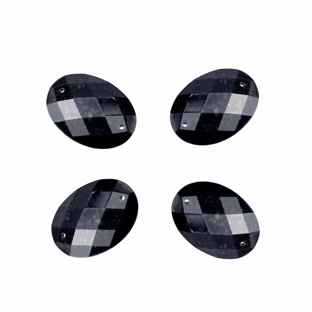 aplicacion oval marmoleada 25×18 mm negro