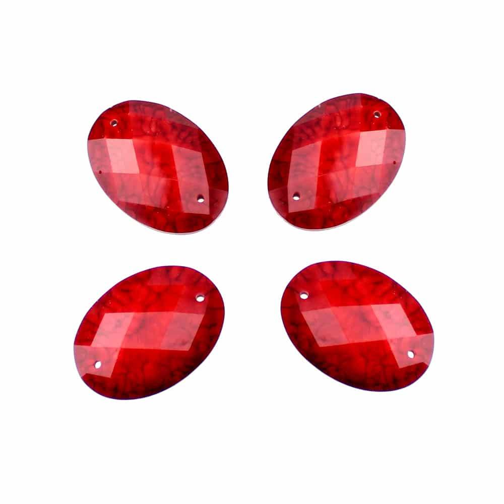 aplicacion oval marmoleada 25×18 mm rojo