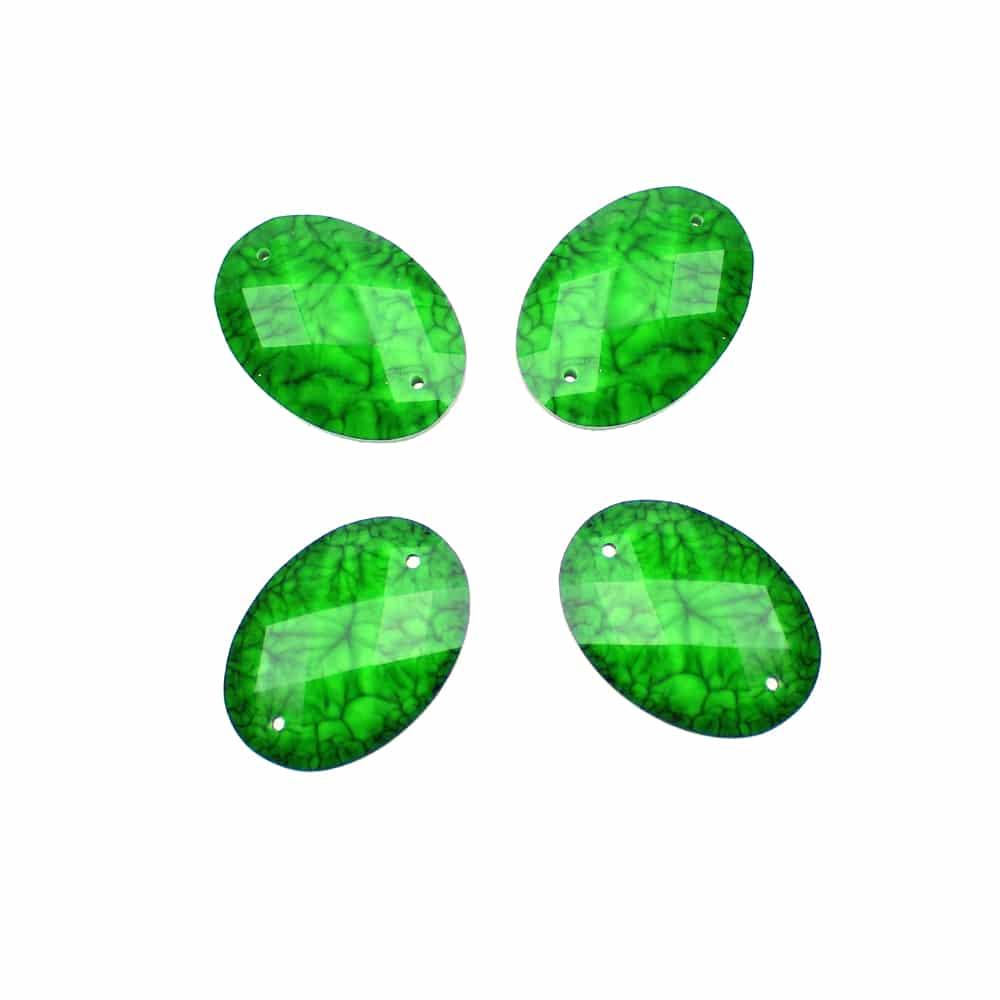 aplicacion oval marmoleada 25×18 mm verde jungla