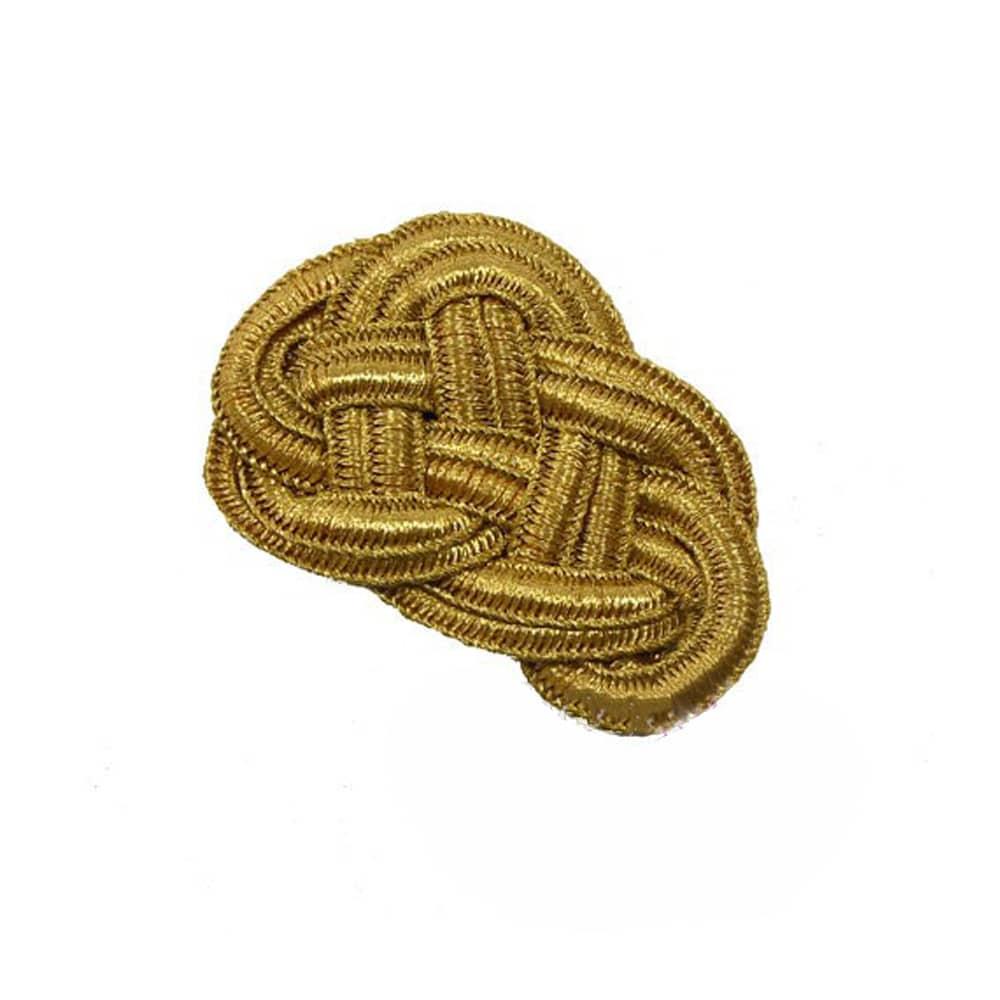 aplique pasamaneria metalizado 5.5X7.5 cm oro