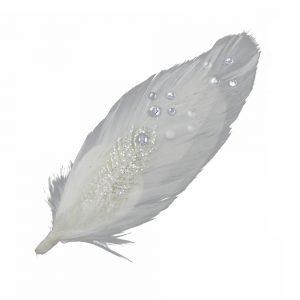 aplique pluma liso blanco