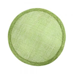 base circular 14 15 cm sinamay verde seco
