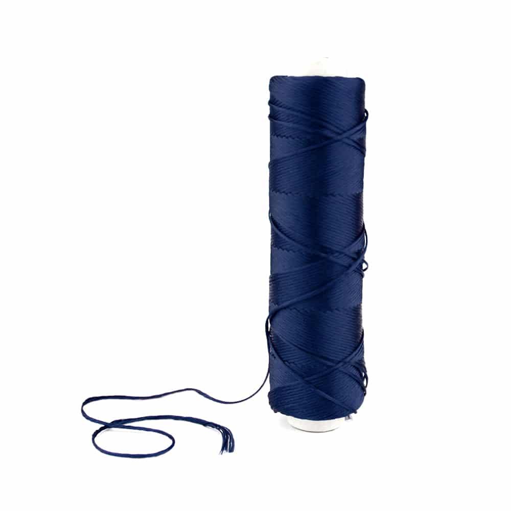 bobina hilo de seda azul marino