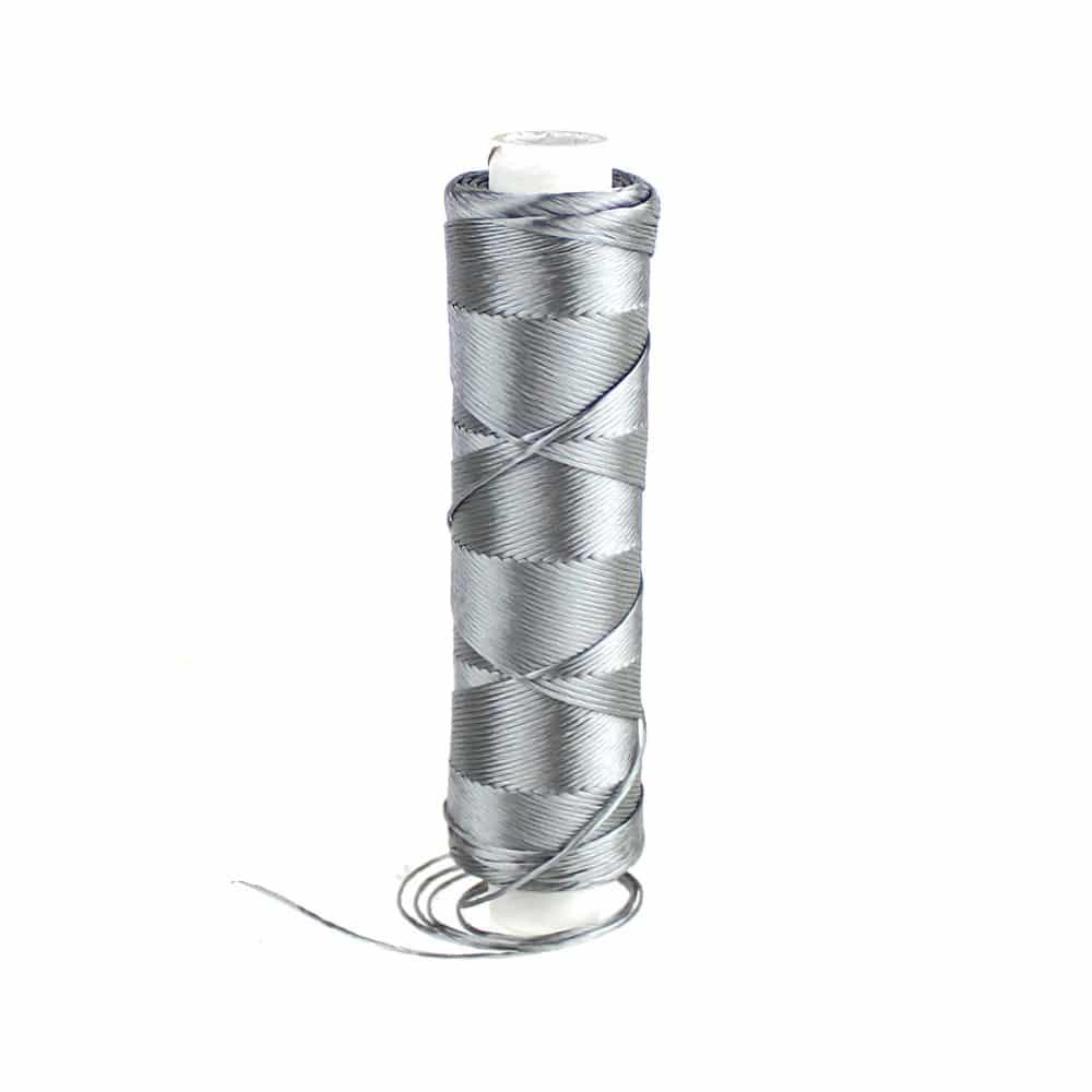 bobina hilo de seda gris oscuro
