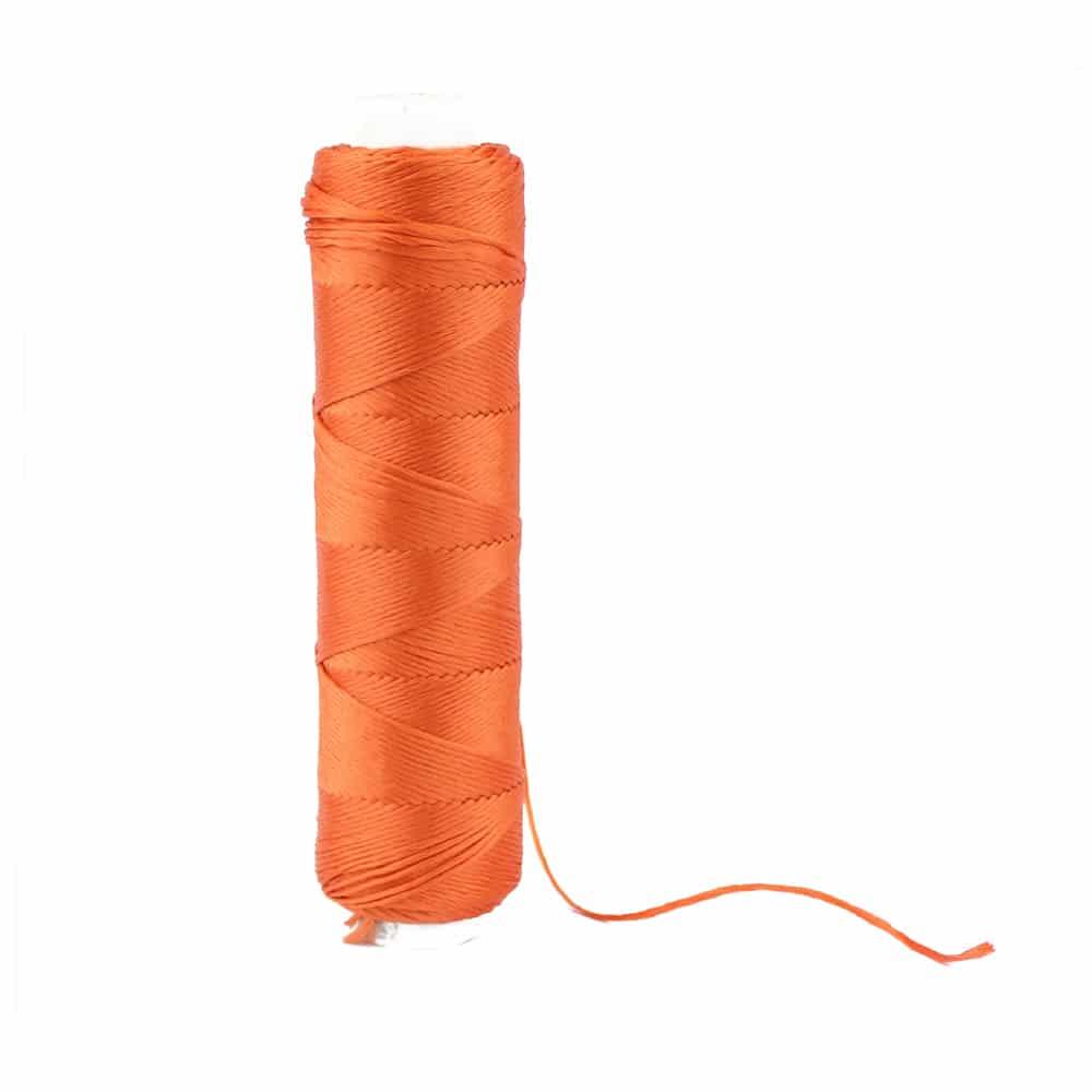 bobina hilo de seda naranja quemado