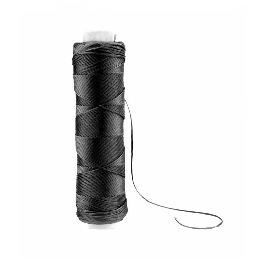 bobina hilo de seda negro