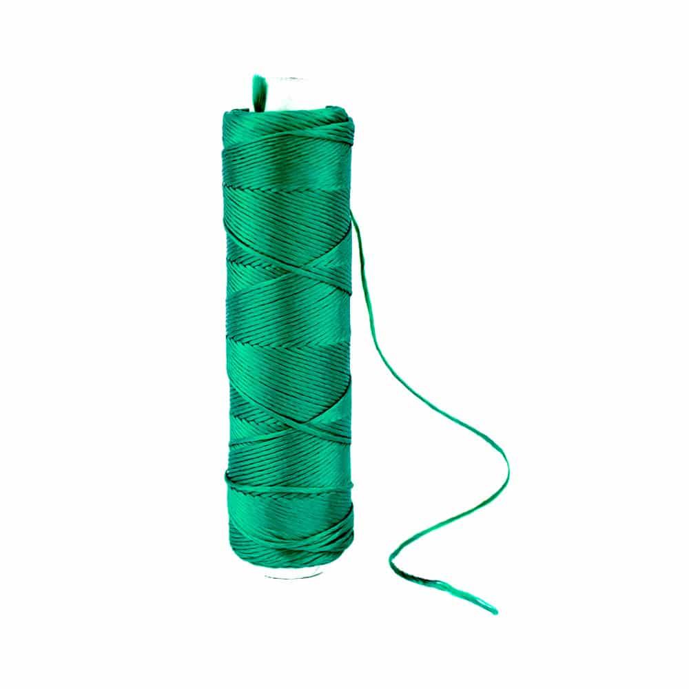 bobina hilo de seda verde esmeralda
