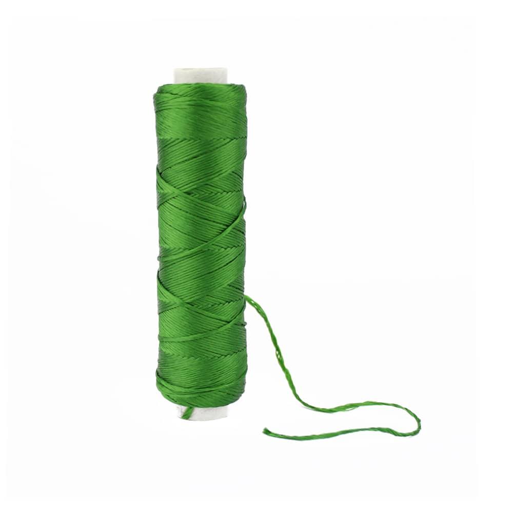 bobina hilo de seda verde hoja
