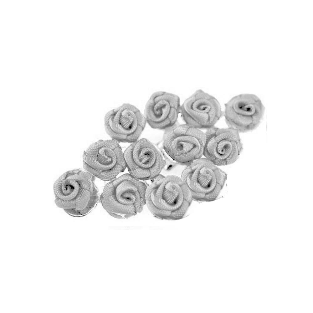 broche con florecillas gris