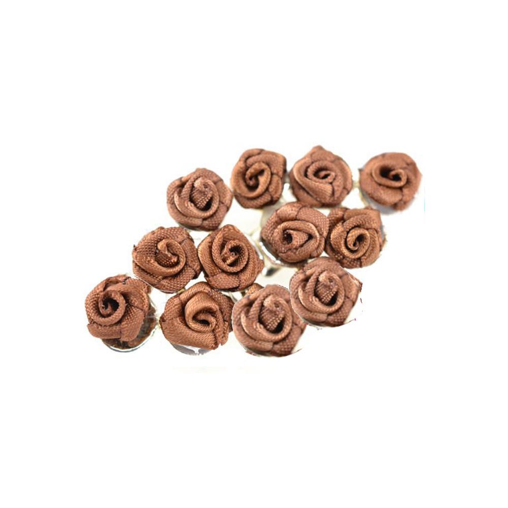 broche con florecillas marrón