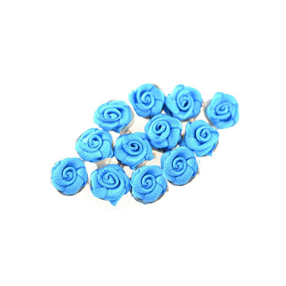 broche con florecillas turquesa